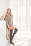 Lovely girl in stockings. Stock Image