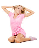 Lovely girl stretching oneself Stock Photography