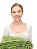 Lovely girl with towels Stock Photos