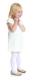 Lovely girl in white dress Royalty Free Stock Photography
