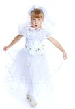 Lovely girl in white dress. Royalty Free Stock Photo