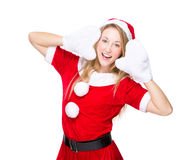 Lovely girl with Xmas dressing Royalty Free Stock Photos
