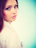 Lovely glamorous young woman portrait. Royalty Free Stock Photography