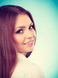 Lovely glamorous young woman portrait. Stock Image