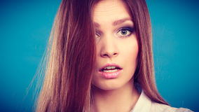 Lovely glamorous young woman portrait. Stock Images