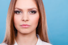 Lovely glamorous young woman portrait. Stock Photo