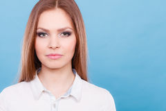 Lovely glamorous young woman portrait. Stock Photos