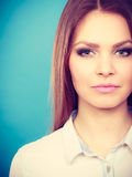 Lovely glamorous young woman portrait. Royalty Free Stock Photos