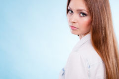 Lovely glamorous young woman portrait. Royalty Free Stock Photo