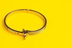 Lovely golden bracelet Royalty Free Stock Image