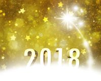 Lovely golden Happy New Year 2018 background Royalty-vrije Stock Fotografie