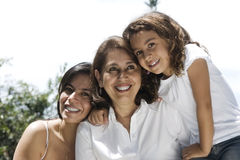 Lovely grandmother with daughter and granddaughter Royalty Free Stock Photos