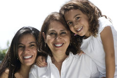 Lovely grandmother with daughter and granddaughter Royalty Free Stock Image