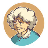 Lovely granny. Vector portrait of lovely grandmother Royalty Free Stock Photography