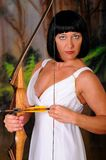 Lovely Greek Goddess Archer Stock Photo