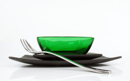 Lovely green bowl Royalty Free Stock Images