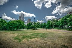 View from Centennial Olympic Park in Atlanta, Georgia stock image