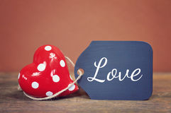 Lovely greeting card - love Stock Photo