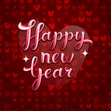 Lovely greeting happy new year vector card Stock Photography