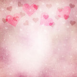 Lovely grunge purple red heart copy space background Stock Images