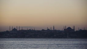 Lovely hagia sofia and Blue Mosque landscape in istanbul Stock Image