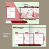 Lovely half-fold template design Royalty Free Stock Images