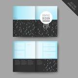 Lovely half-fold template design Stock Images