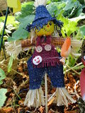 Lovely Halloween Scarecrow. A lovely Halloween scarecrow for decorating garden Stock Image
