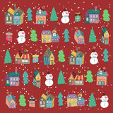 Lovely hand drawn Christmas elements Royalty Free Stock Photography