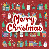 Lovely hand drawn Christmas elements Royalty Free Stock Photos