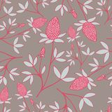 Lovely hand-drawn flower seamless pattern in pink-blue colors. royalty free illustration