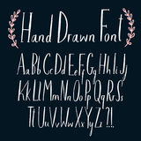 Lovely hand drawn vector ABC letters set. For your design Stock Image