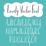 Lovely hand drawn vector ABC letters set. For your design Stock Photo