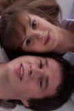 Lovely happy couple Stock Photos