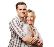 Lovely happy  couple hugging Royalty Free Stock Images