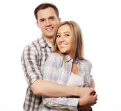 Lovely happy  couple hugging Royalty Free Stock Photos