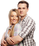 Lovely happy  couple hugging Stock Photography