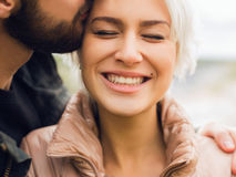 Lovely happy couple Royalty Free Stock Image