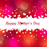 Lovely Happy Mother`s Day Hearts Stock Photography