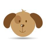 Lovely head puppy dog funny. Vector illustration eps 10 Royalty Free Stock Photo