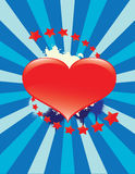 Lovely heart background Royalty Free Stock Image