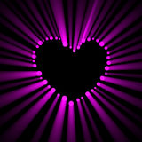 Lovely heart frame glowing dots light flare Stock Photo