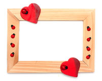 Lovely heart frame for your design Stock Images