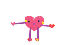 A Lovely Heart made by a lovely girl Royalty Free Stock Photo