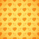 Lovely heart romantic pattern. Seamless vector background Royalty Free Stock Photos