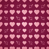 Lovely heart romantic pattern. Seamless vector background. Stock Photos