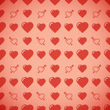 Lovely heart romantic pattern. Seamless vector background. Royalty Free Stock Photo