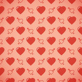 Lovely heart romantic pattern. Seamless vector background. Royalty Free Stock Images