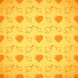 Lovely heart romantic pattern. Seamless vector background. Stock Image