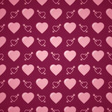 Lovely heart romantic pattern. Seamless vector background. Stock Images